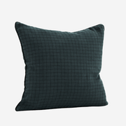 "Cushion cover ""Checked linen"" - Blue"