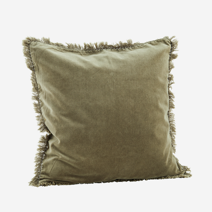 Cushion cover with fringes - Taupe
