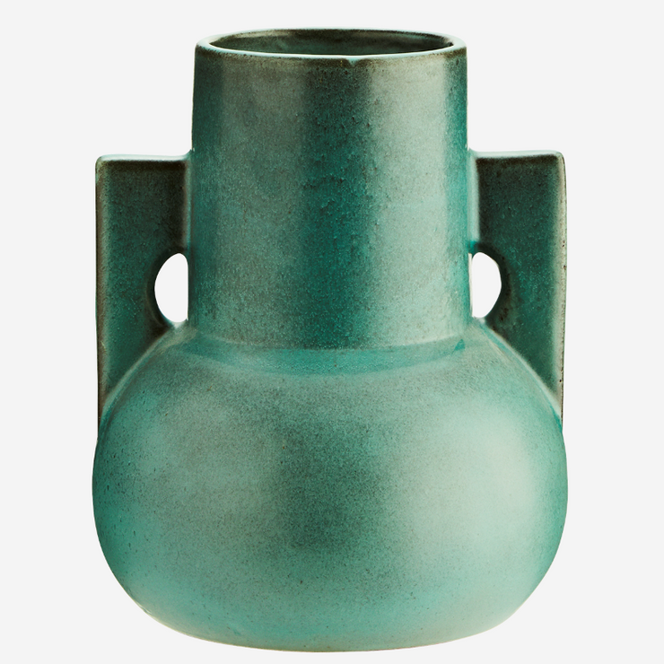 Large terracotta vase - Green