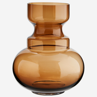 Retro vase - Brown glass