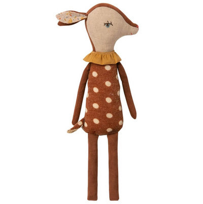 MAILEG - Bambi sleepy / wakey doll - soft and cute gift for kids - cotton