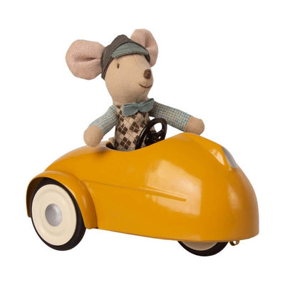 MAILEG - Big brother mouse - yellow garage - cute and vintage toy for kids