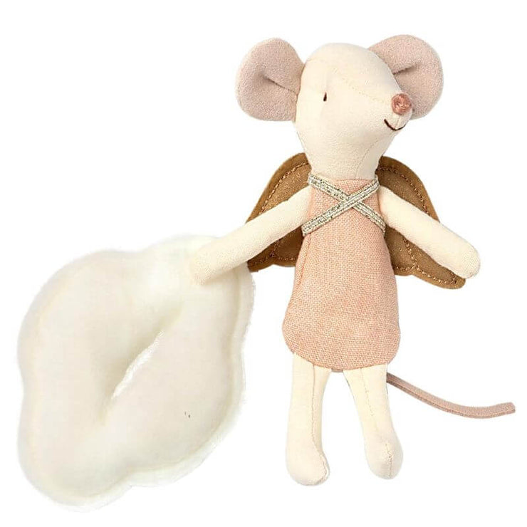 MAILEG - Angel mouse in a book - cute figurine for kids