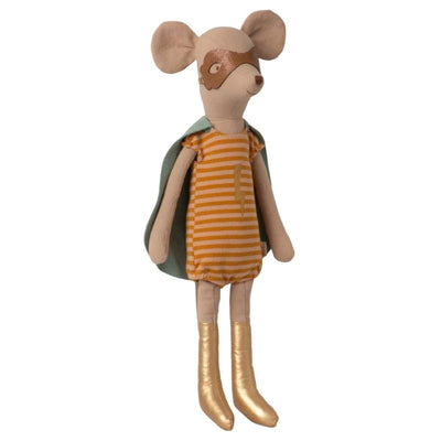 MAILEG - Super heroine mouse - girl - cute toy for kids in cotton