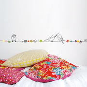Mimilou - Wallborder for kids - pearls and birds - fun decoration element - made in France