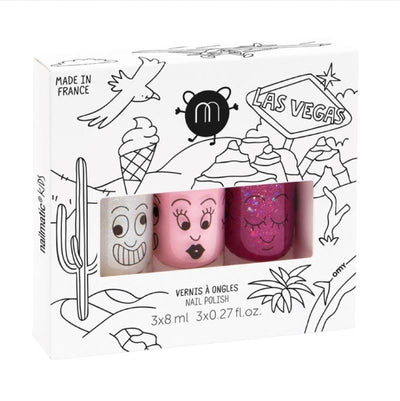 NAILMATIC KIDS - Las Vegas - set of 3 water-based nailpolish for kids - fun and colourful