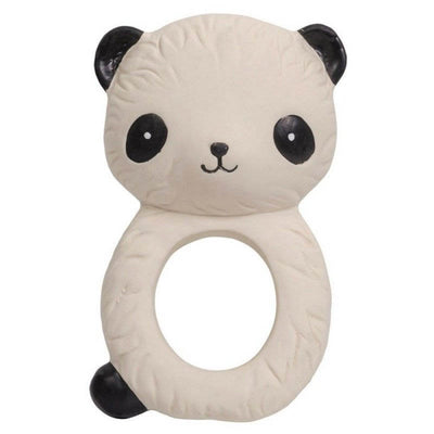 Panda teething ring - natural rubber
