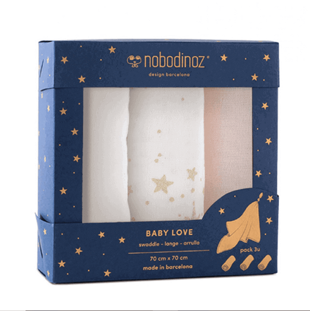 NOBODINOZ - Set of baby swaddles - Made in France and spain