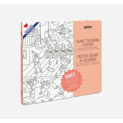 OMY DESIGN & PLAY - Giant colouring poster - dance theme - original and entertaining arts and craft idea