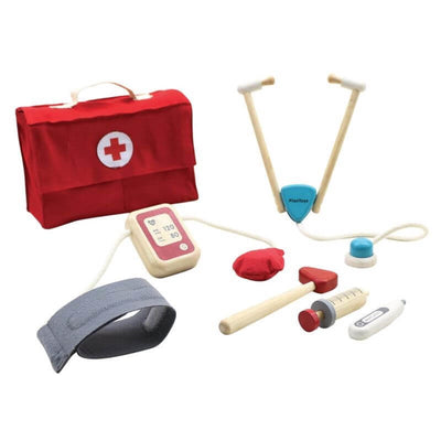 PLAN TOYS - Wooden doctor set - imitative game for kids