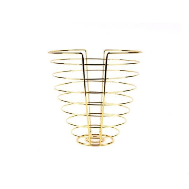 PRESENT TIME - fruit basket gold wire - linea