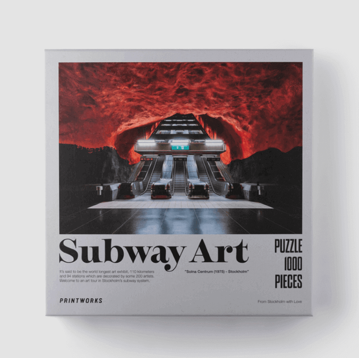 PRINTWORKS - Puzzle 1000 pieces - subway art fire