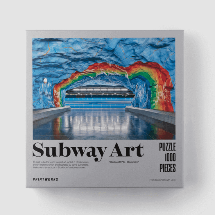 PRINTWORKS - Puzzle 1000 pieces - subway art rainbow