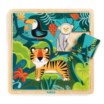 DJECO - Wooden baby puzzle - Puzzlo Jungle