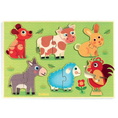 DJECO - Wooden baby puzzle - Coucou Cow