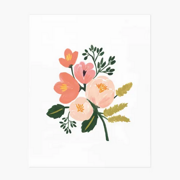 Rose botanical poster