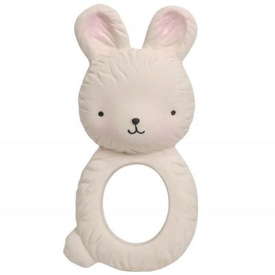 Rabbit teething ring - natural rubber