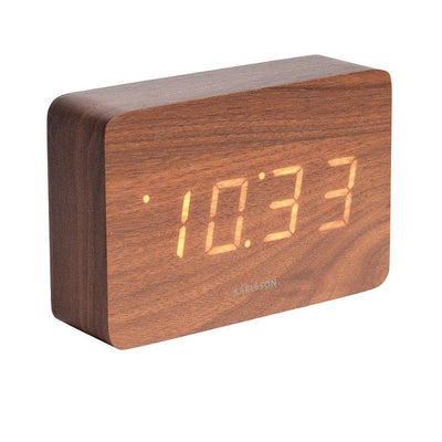 Square alarm clock - Dark wood