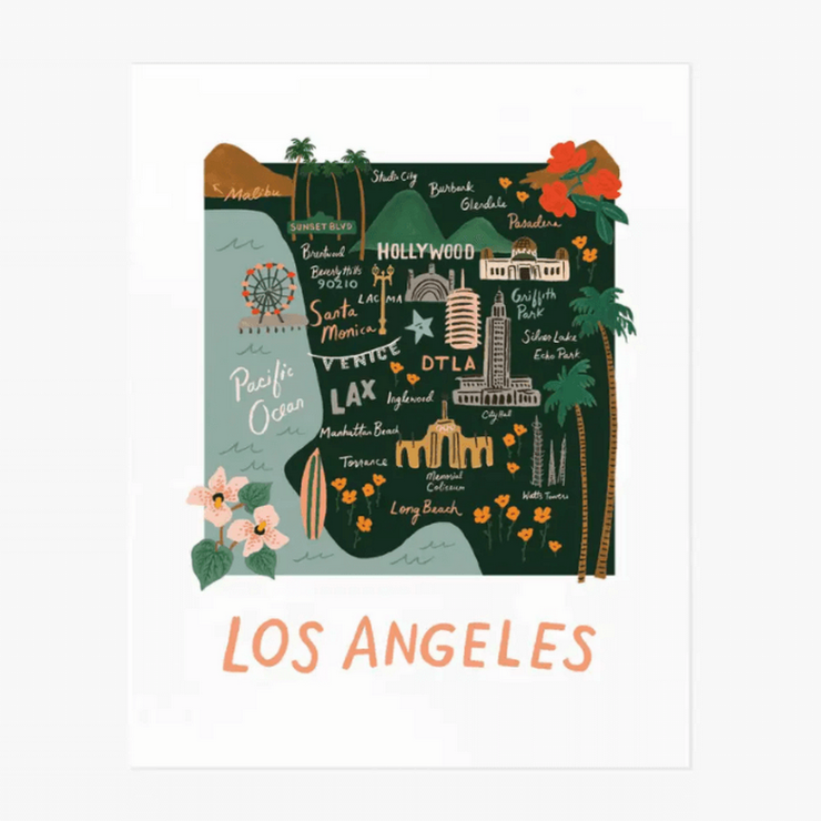Poster - Los Angeles map