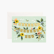 Rifle Paper Co - Birth greeting card - Welcome little one garland
