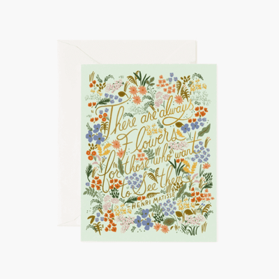 Rifle Paper Co - Greeting card - Matisse quote - beautiful and inspiring