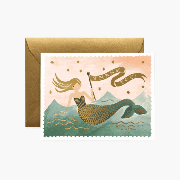 Rifle Paper Co - Greeting card - Thank you mermaid