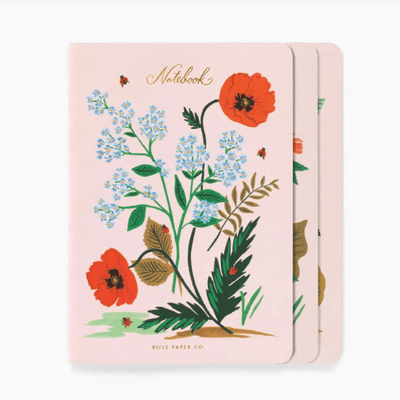 Set of 3 notebooks - Botanical pink