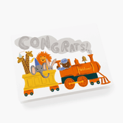 Rifle Paper Co - Birth greeting card - little engine - fun and delicate attention for baby birth