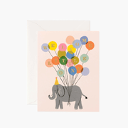 Birth greeting card - Welcome elephant