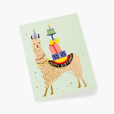 Birthday card - Llama birthday