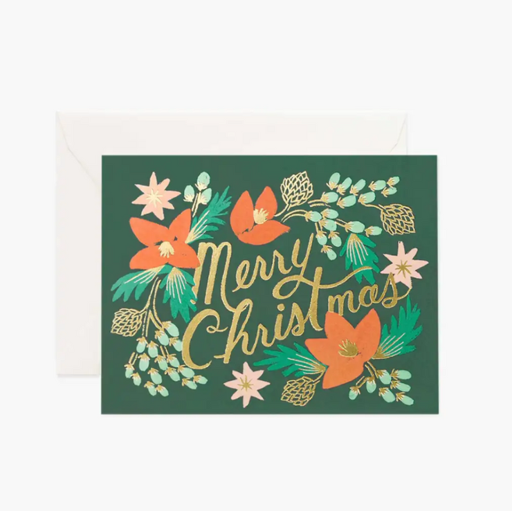 Christmas card - Wintergreen garden