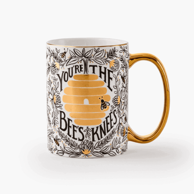 Rifle Paper Co - Generous porcelain Mug - You're the Bee's Knees - cute gift idea for loved one