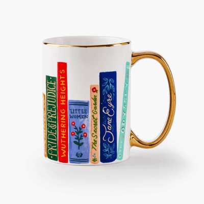 Rifle Paper Co - cute and generous Porcelain Mug - book club - beautiful gift idea for book lovers