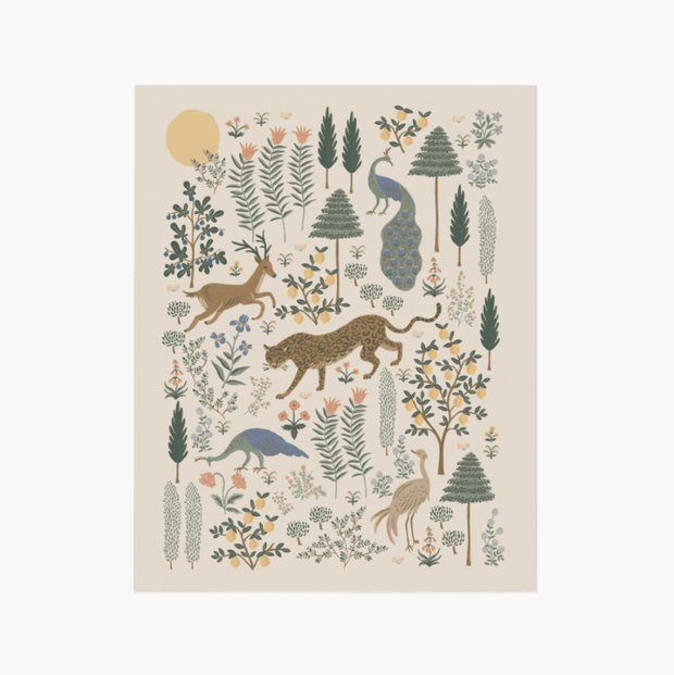 Rifle Paper Co - Beautiful Poster - Menagerie forest - wall decoration made in USA