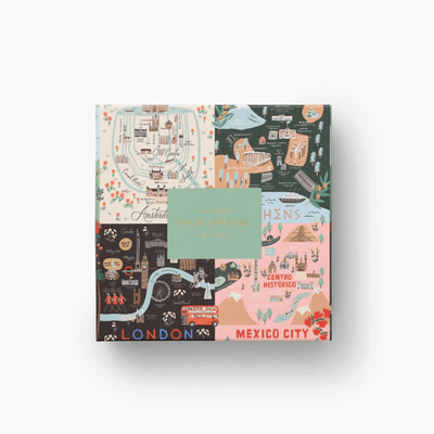 Rifle Paper Co - puzzle 500 pieces - maps - amazing illustrations of cities around the world