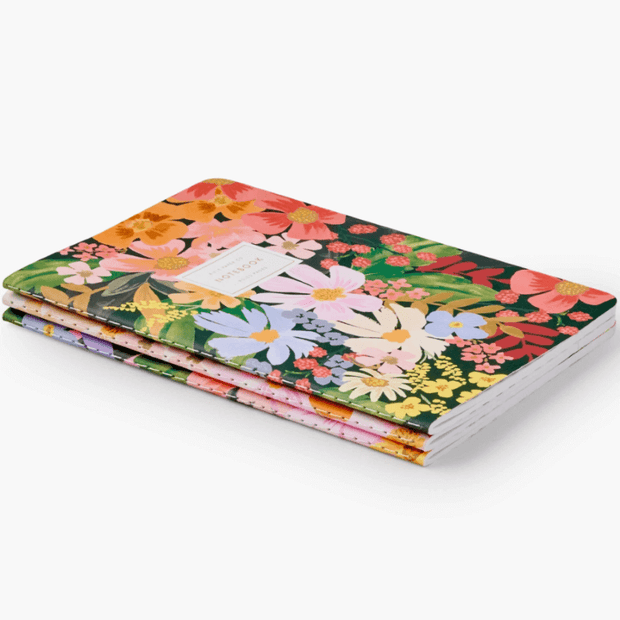 Rifle Paper Co - set of 3 notebooks - marguerite
