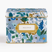 Rifle Ppaper Co - vintage metal recipe box - garden party blue
