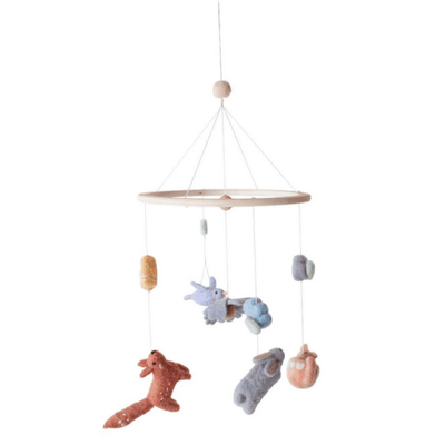 Wool baby mobile - Daydream