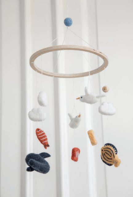 Wool baby mobile - Seven Seas