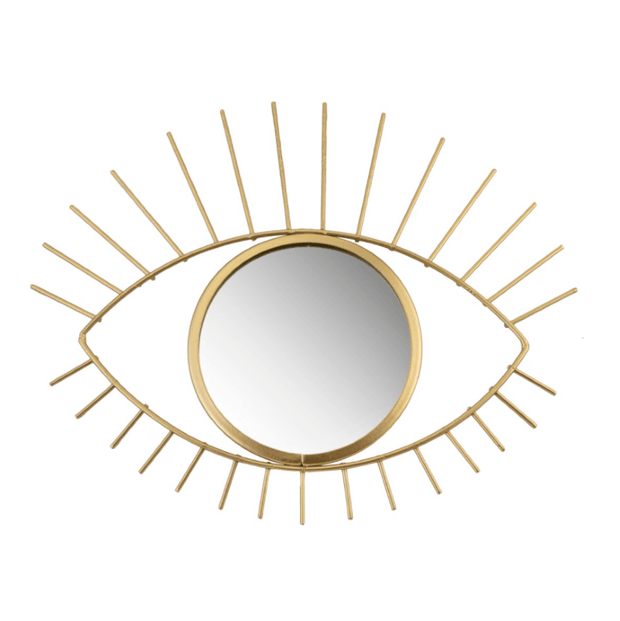 SASS AND BELLE - golden metal wall mirror - eye - beautiful decoration for interior