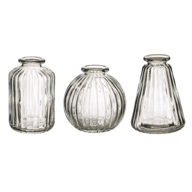 SASS AND BELLE - plain glass vases - set of 3