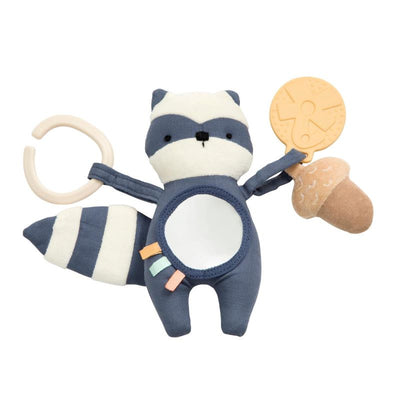 Sebra - cute activity toy for baby - Rebel the raccoon - 100% polyester - birth gift idea