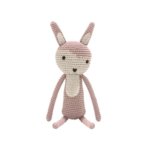 Crochet toy - pink rabbit