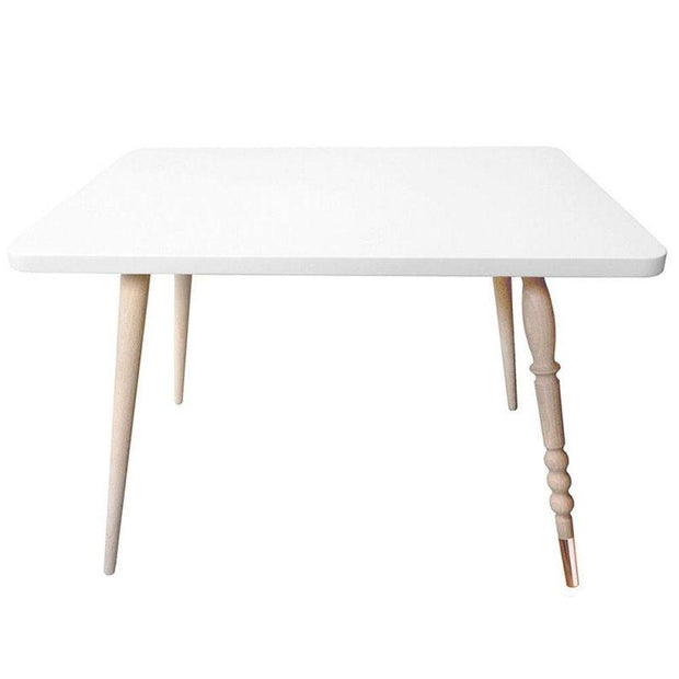 "Beech Rectangle Low Table ""My Lovely Ballerine"" - White"