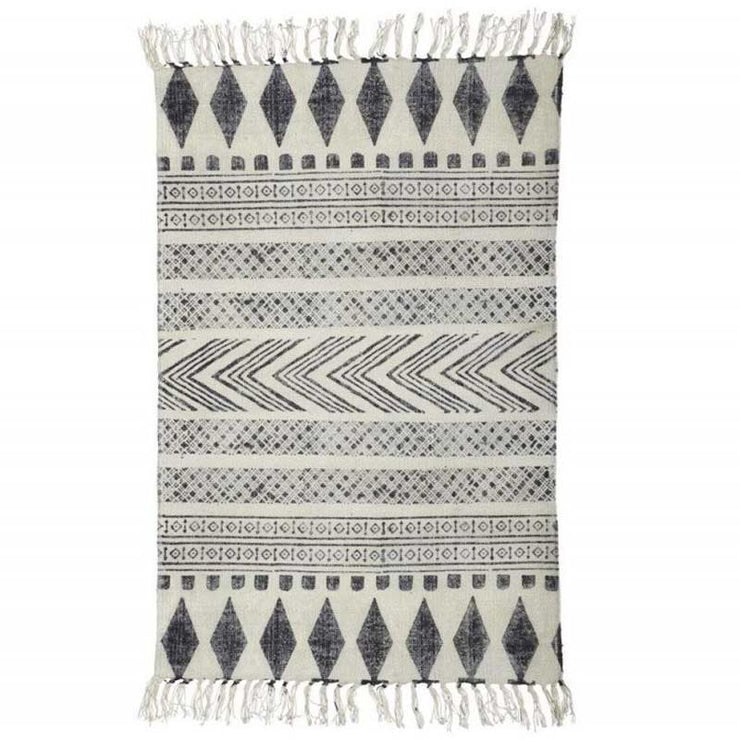 Block rug - Grey and cream