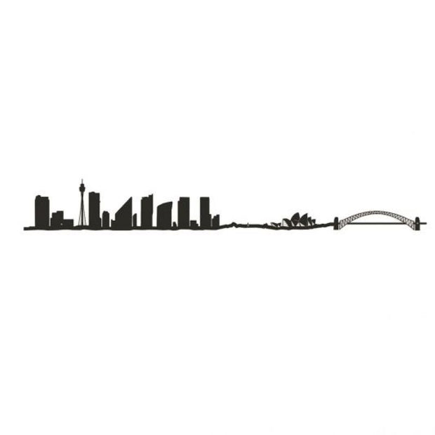 THE LINE - Sydney city skyline black - origonal wall decoration design and elegant