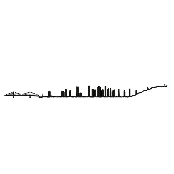 THE LINE - Montreal skyline in black steel