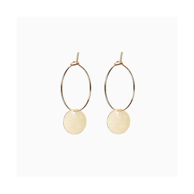 TITLEE - willow earrings - beautiful jewelry for women - brass and fine gold