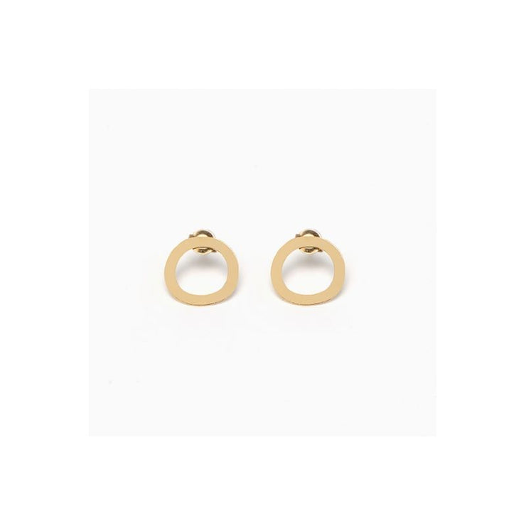 TITLEE - Cambridge earrings - gold plated brass - Made in France