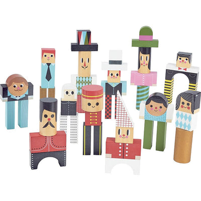 VILAC - wooden characters construction block - beautiful game for kids